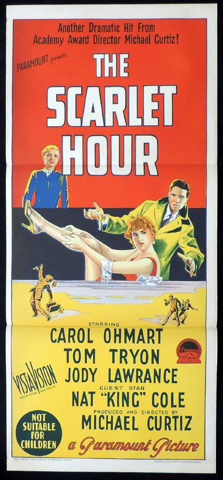 THE SCARLET HOUR Original Daybill Movie Poster MICHAEL CURTIZ Nat King Cole Richardson Studio