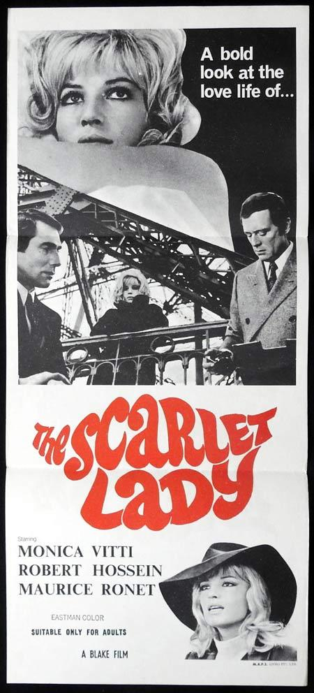 THE SCARLET LADY The Bitch Wants Blood  Original Daybill Movie Poster Monica Vitti Maurice Ronet,