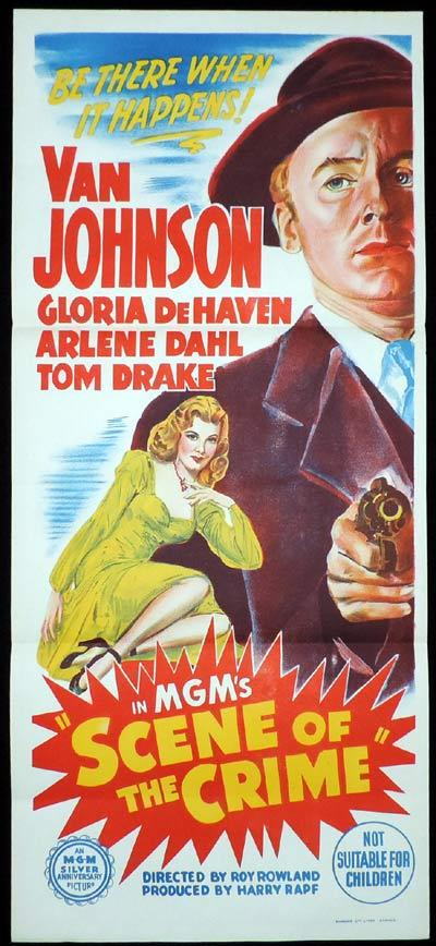 SCENE OF THE CRIME Daybill Movie poster Van Johnson Film Noir