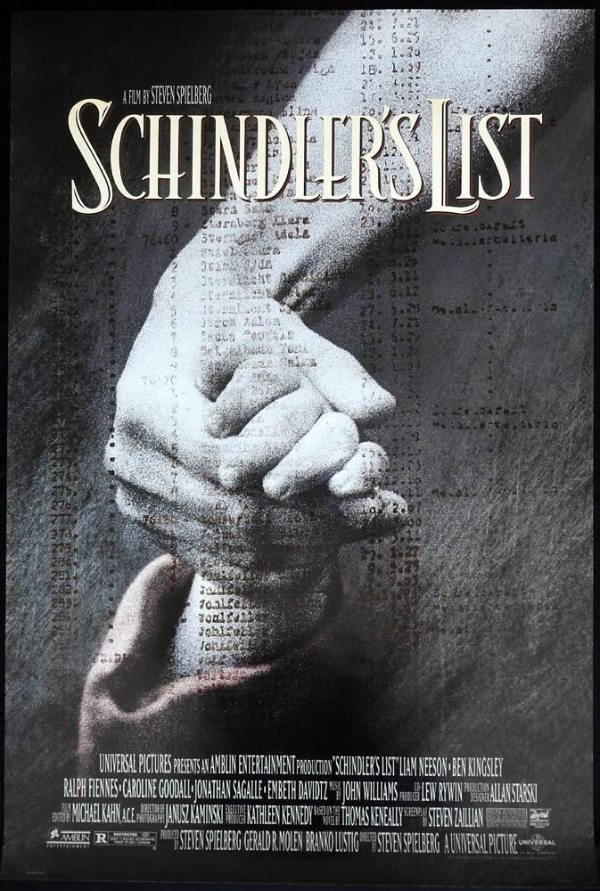 SCHINDLER'S LIST Original US One sheet Movie poster Liam Neeson