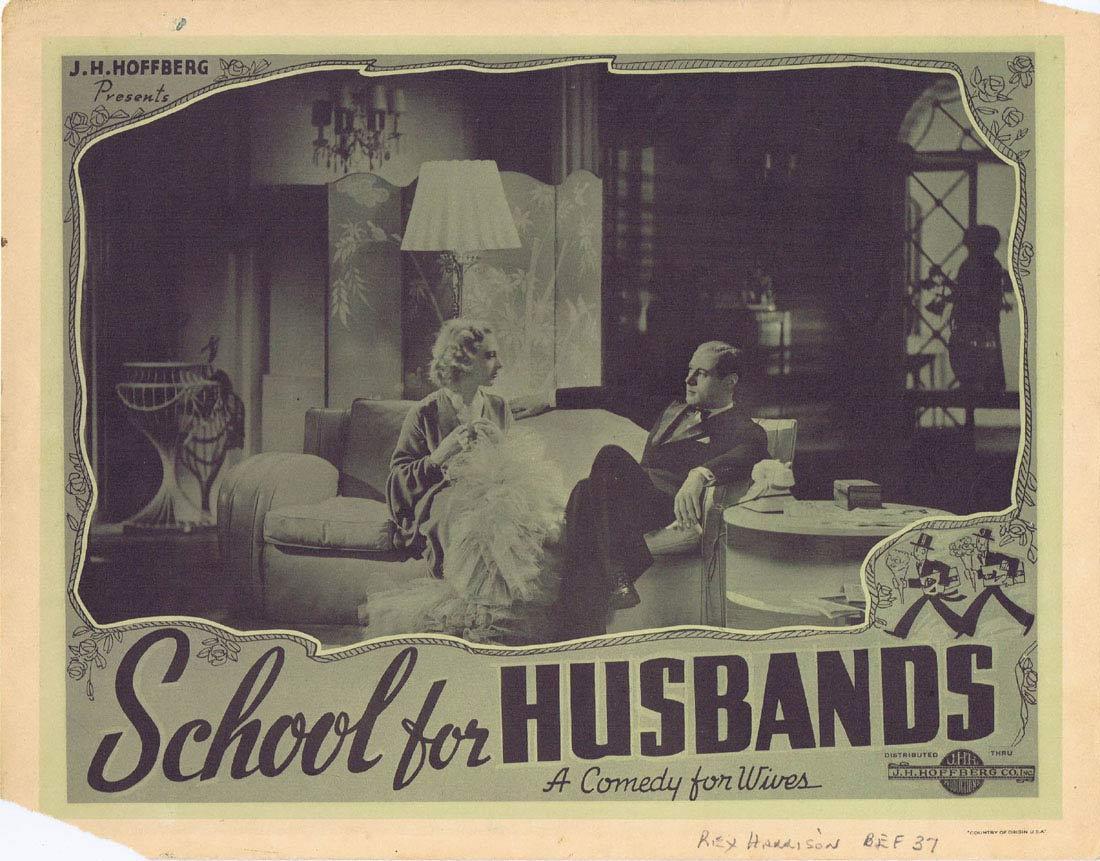 SCHOOL FOR HUSBANDS Vintage Lobby card 1937 Rex Harrison