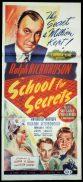 SCHOOL FOR SECRETS Original Daybill Movie Poster Ralph Richardson