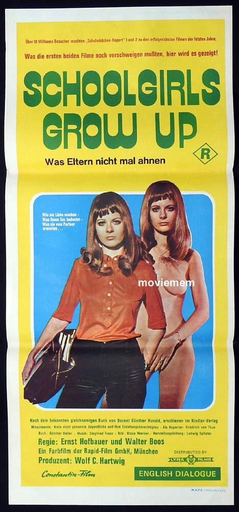 SCHOOLGIRLS GROW UP Daybill Movie Poster Sexploitation Friedrich von Thun