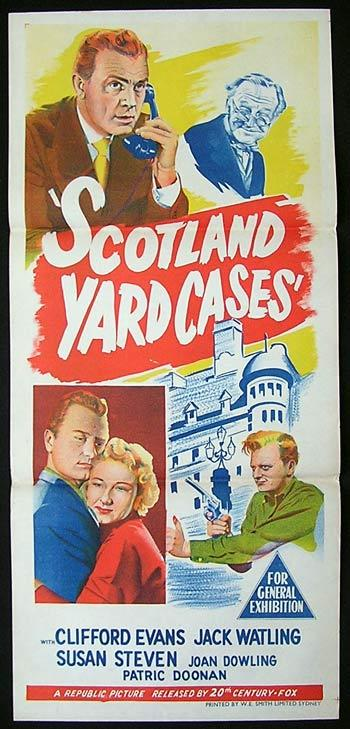 SCOTLAND YARD CASES aka STRYKER OF THE YARD Movie poster 1953 British Cinema daybill