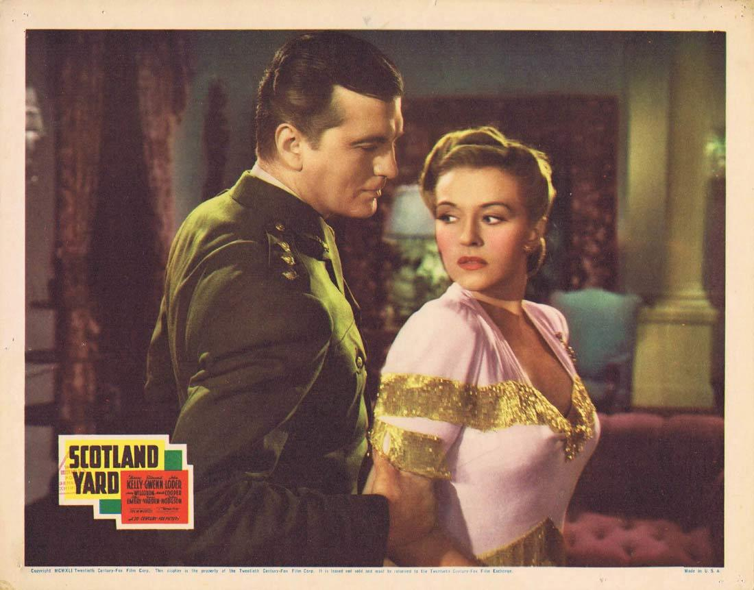 SCOTLAND YARD Lobby card 1941 Nancy Kelly Edmund Gwenn John Loder