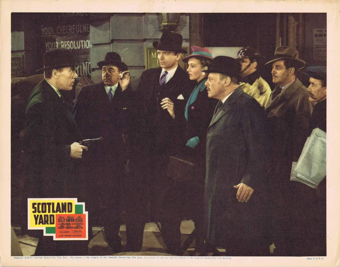SCOTLAND YARD Vintage Lobby Card Nancy Kelly Edmund Gwenn John Loder 1941