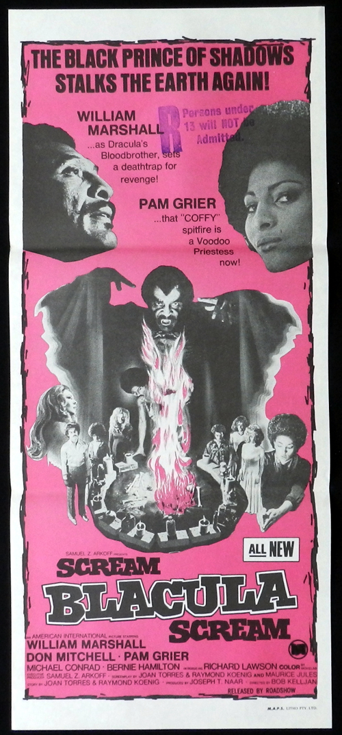 SCREAM BLACULA SCREAM Original Daybill Movie Poster William Marshall Pam Grier