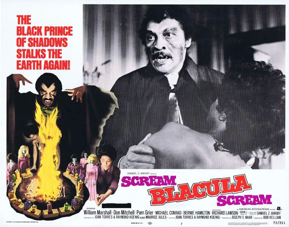 SCREAM BLACULA SCREAM Original Lobby Card 7 Blaxploitation Horror Pam Grier