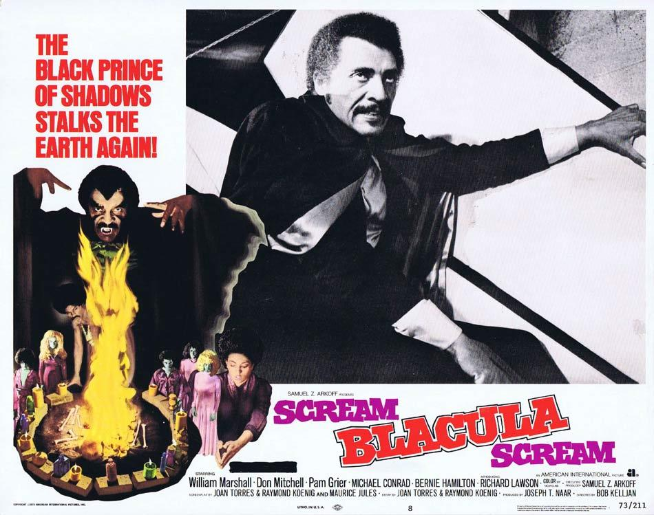 SCREAM BLACULA SCREAM 1973 Blaxploitation Horror William Marshall rises out of the Coffin! Lobby Card 8