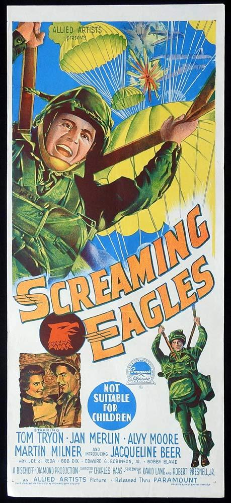 SCREAMING EAGLES Original Daybill Movie Poster Richardson Studio art 1956