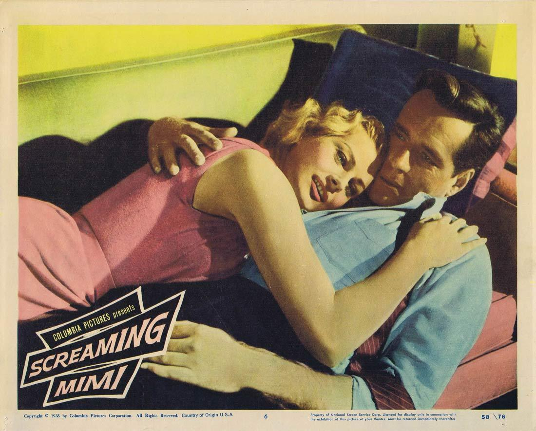 SCREAMING MIMI Original Lobby Card 6 Anita Ekberg Philip Carey