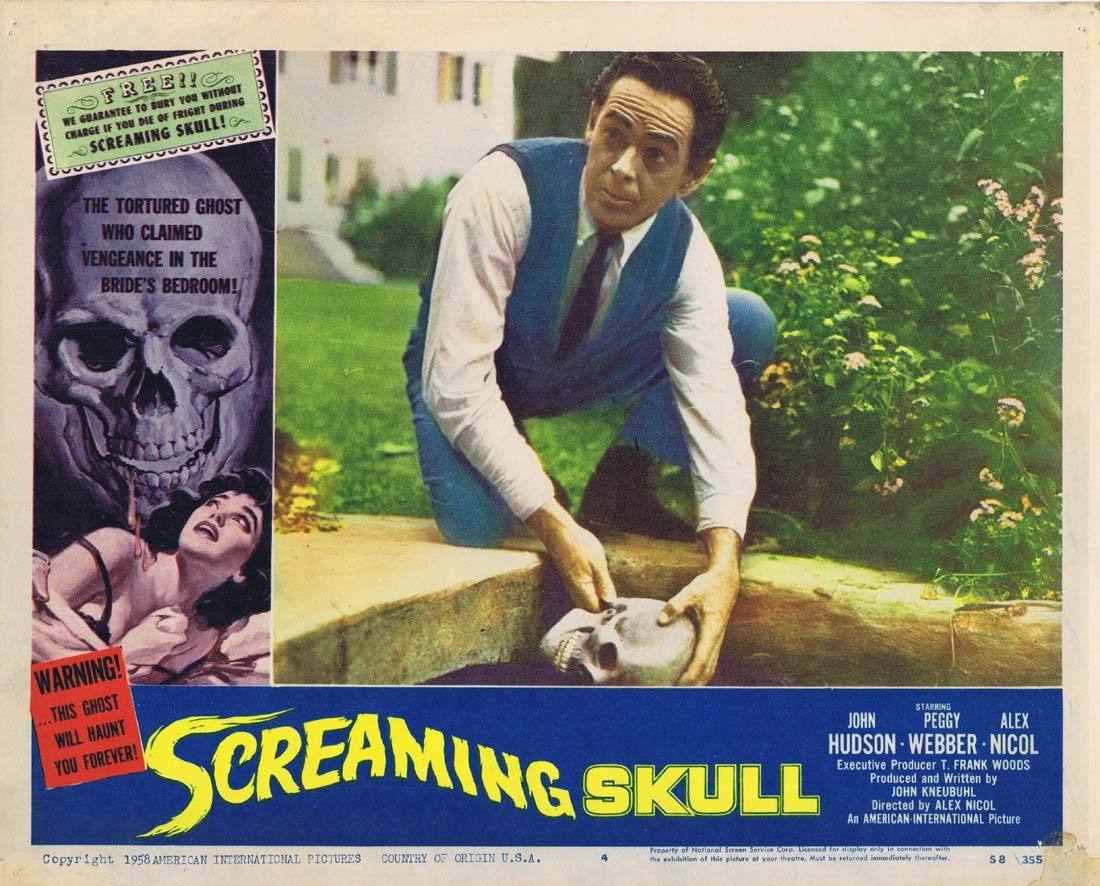 SCREAMING SKULL Lobby Card 4 John Hudson Peggy Webber FREE BURIAL