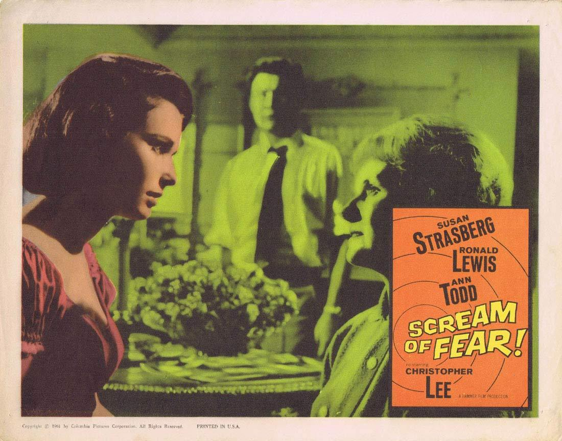 SCREAM OF FEAR Original Lobby Card 2 HAMMER HORROR Susan Strasberg