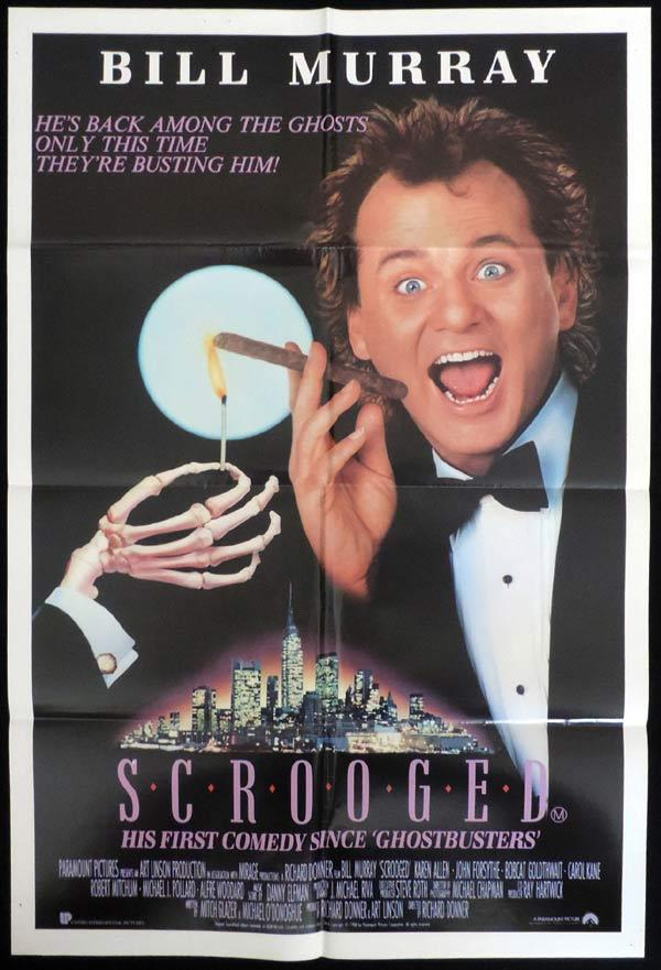 SCROOGED One Sheet Movie Poster Bill Murray