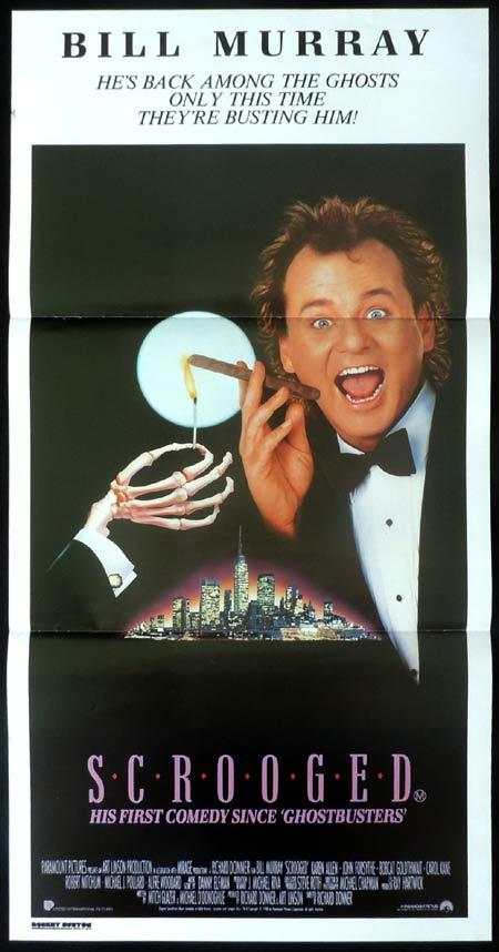 SCROOGED Original Daybill Movie Poster Bill Murray Karen Allen