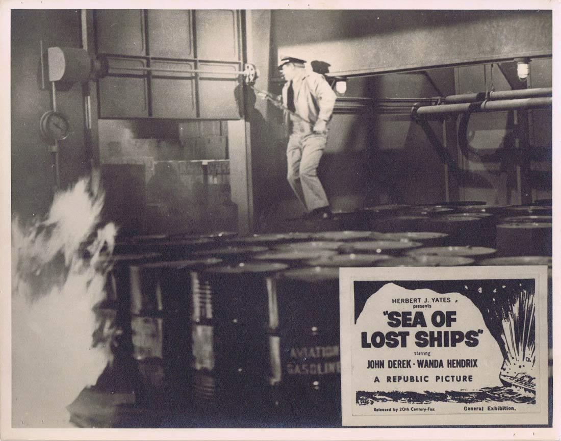 SEA OF LOST SHIPS Original Australian Lobby Card 2 John Derek Wanda Hendrix Walter Brennan