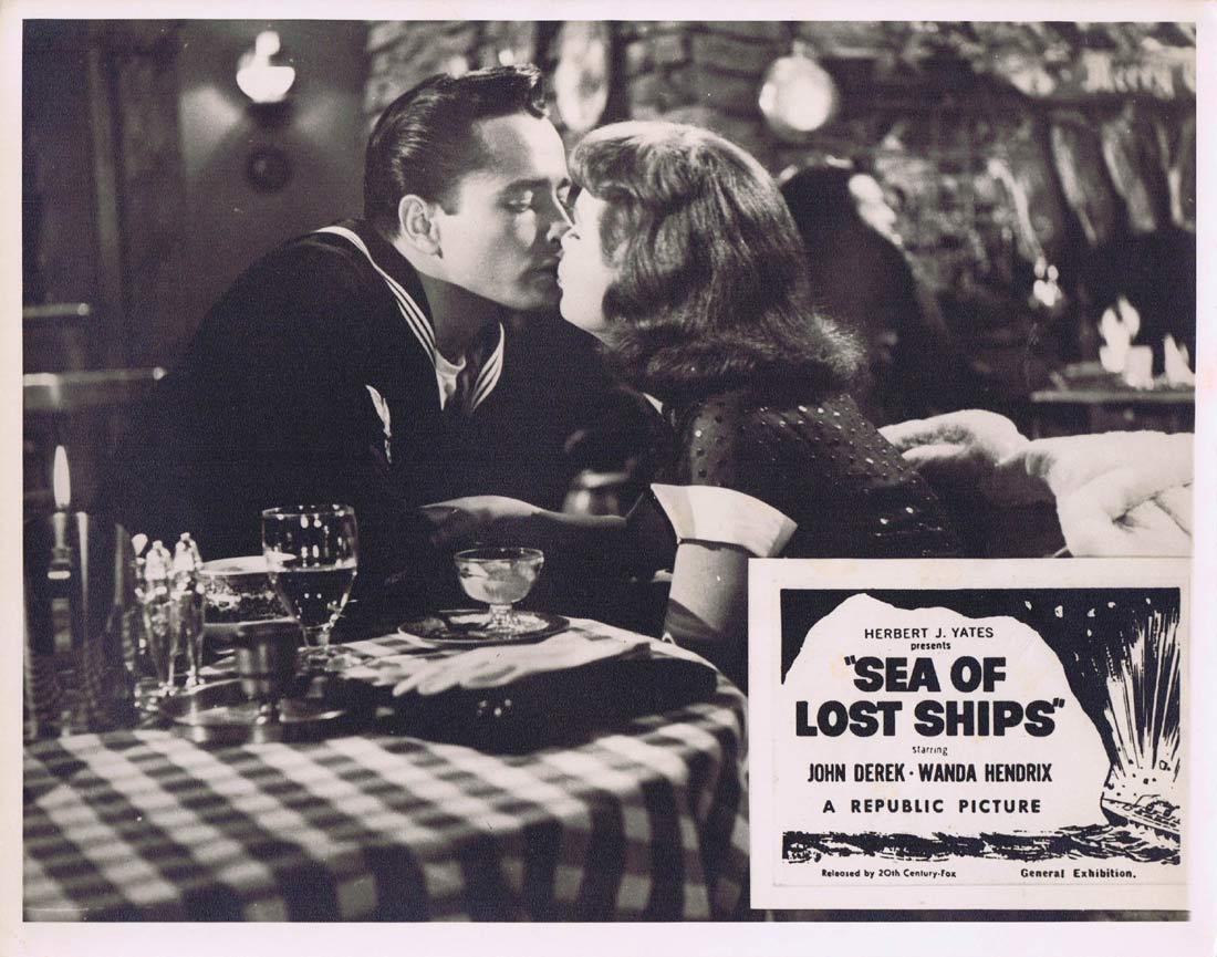 SEA OF LOST SHIPS Original Australian Lobby Card 3 John Derek Wanda Hendrix Walter Brennan