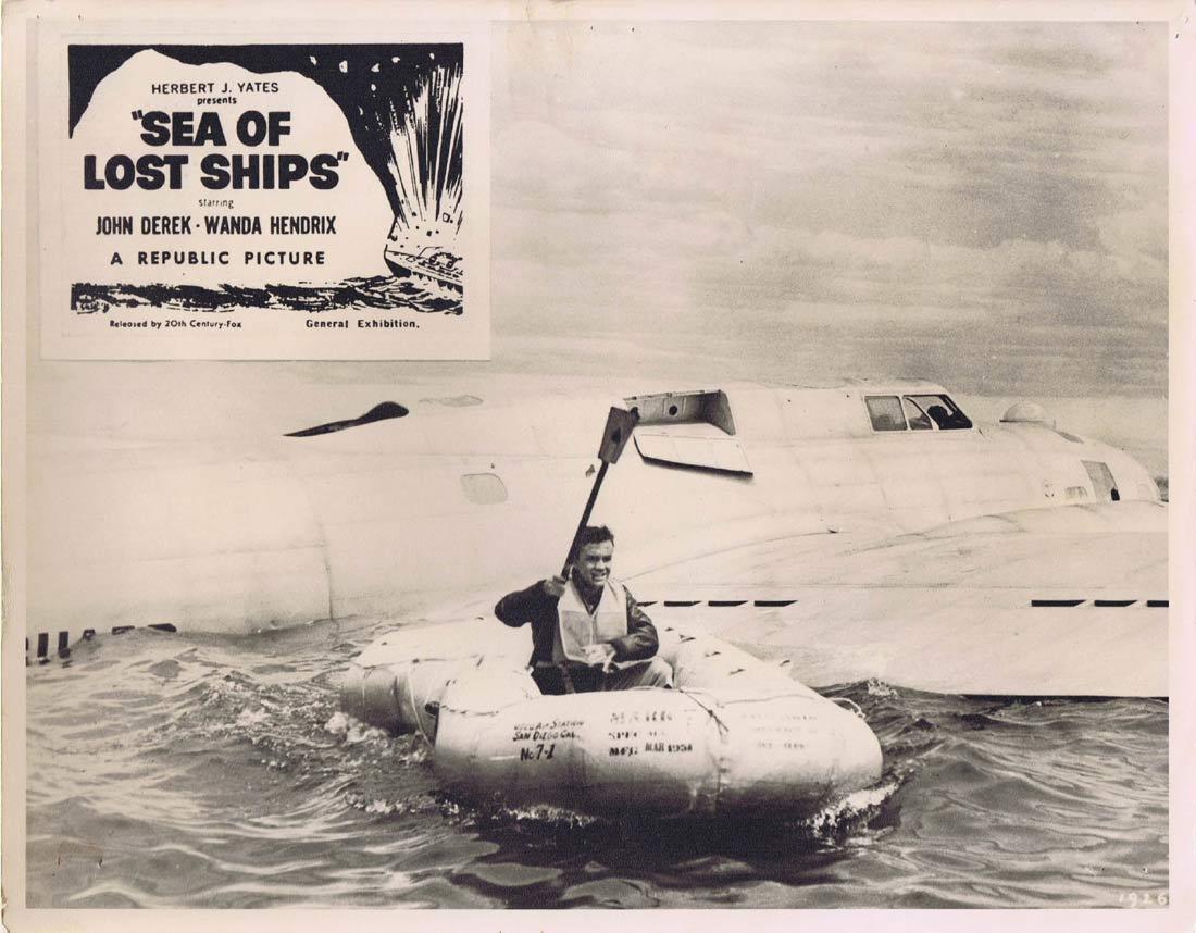 SEA OF LOST SHIPS Original Australian Lobby Card 5 John Derek Wanda Hendrix Walter Brennan