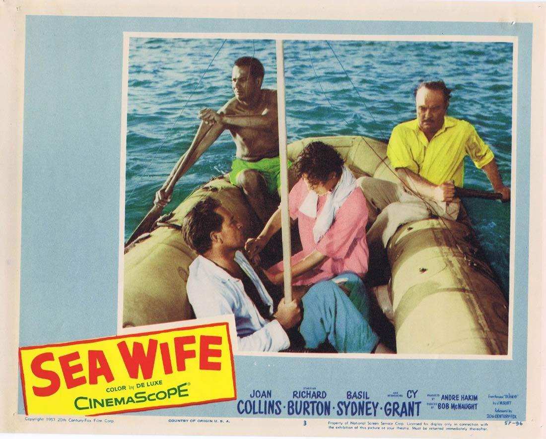 SEA WIFE Lobby Card 3 Joan Collins Richard Burton