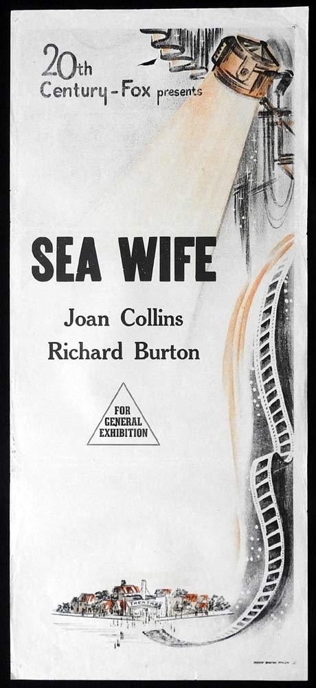 SEA WIFE Original 60sr Daybill Movie Poster Richard Burton Joan Collins