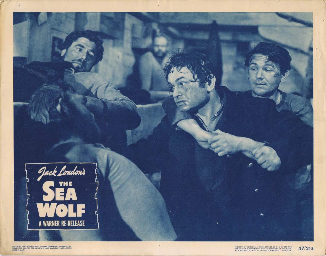 THE SEA WOLF Original 1947r Lobby Card 2 Edward G. Robinson Ida Lupino
