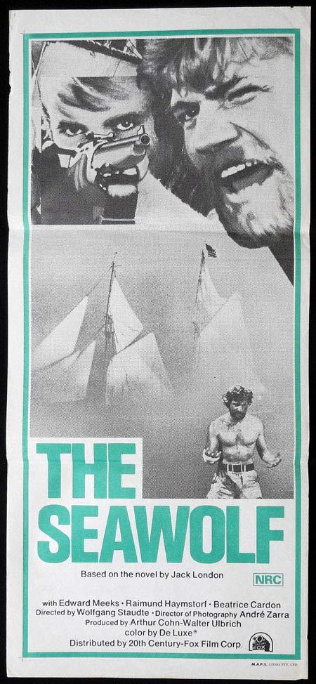 THE SEAWOLF Original Daybill Movie Poster Edward Meeks Raimund Harmstorf