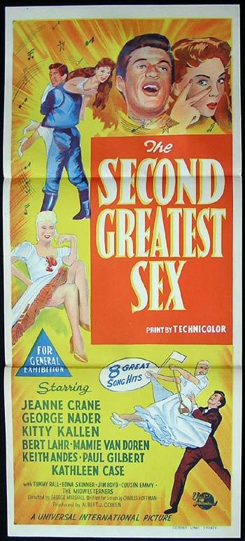 THE SECOND GREATEST SEX Original Daybill Movie poster Jeanne Crain