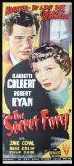SECRET FURY Original Daybill Movie Poster RKO Claudette Colbert Robert Ryan