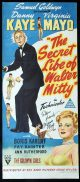 THE SECRET LIFE OF WALTER MITTY Original daybill Movie Poster Autographed by Virginia Mayo