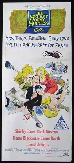 THE SECRET OF MY SUCCESS Original Daybill Movie Poster Shirley Jones Stella Stevens