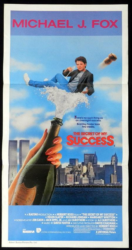 SECRET OF MY SUCCESS Michael J.Fox VINTAGE Daybill Movie poster