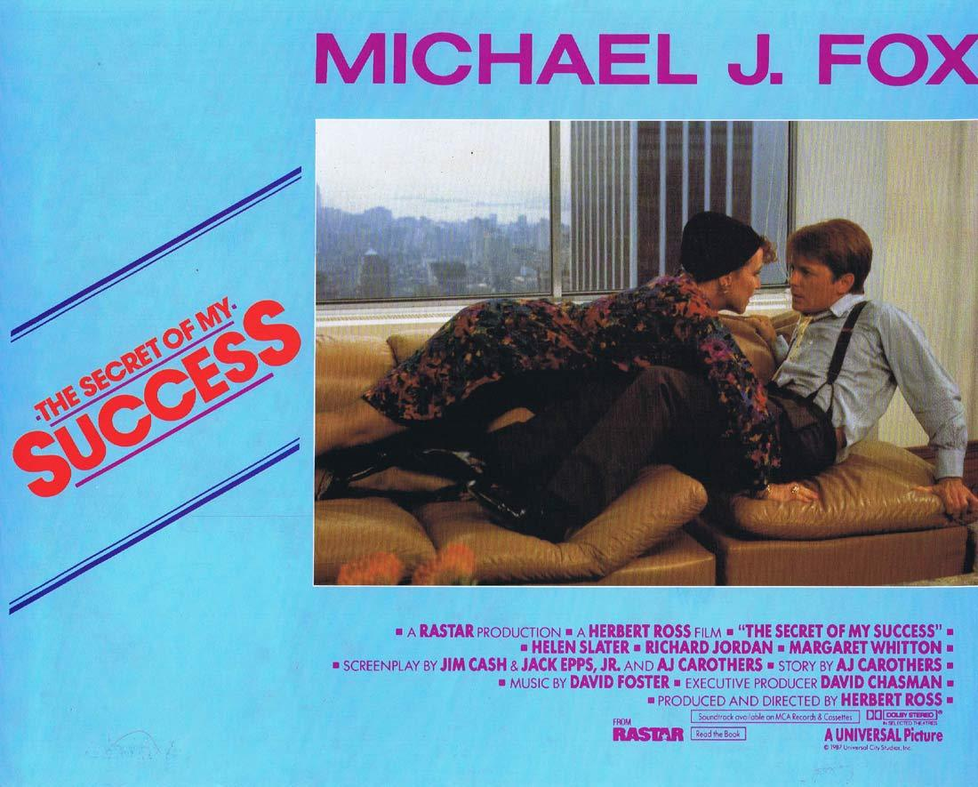 THE SECRET OF MY SUCCESS Original Lobby Card 1 Michael J. Fox Helen Slater