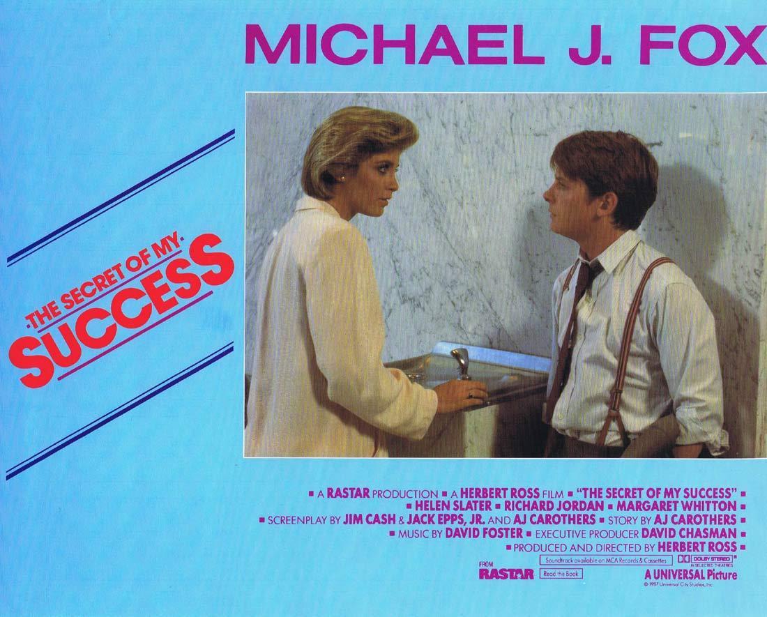 THE SECRET OF MY SUCCESS Original Lobby Card 3 Michael J. Fox Helen Slater