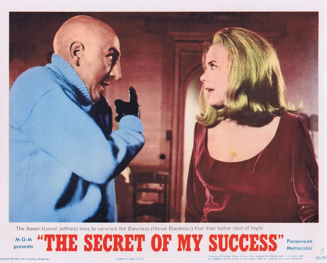 THE SECRET OF MY SUCCESS Lobby Card 3 Honor Blackman Lionel Jeffries