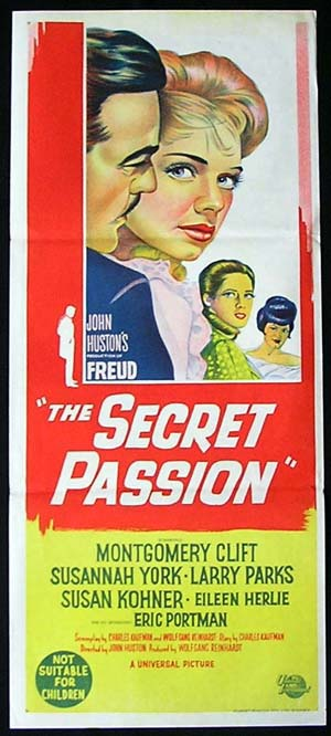 FREUD: THE SECRET PASSION Daybill Movie poster Montgomery Clift