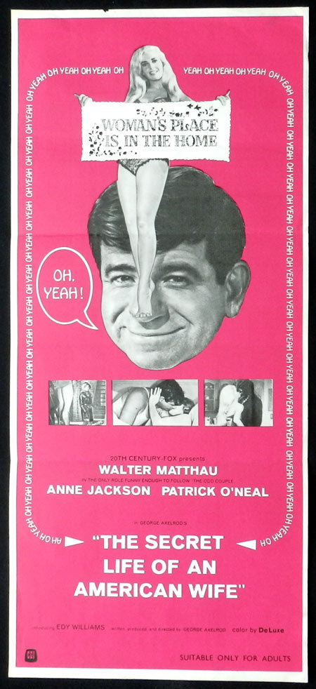 SECRETS OF AN AMERICAN WIFE Walter Matthau VINTAGE Daybill Movie poster