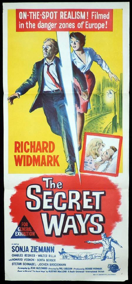 THE SECRET WAYS Original Daybill Movie Poster Richard Widmark Sonja Zieman