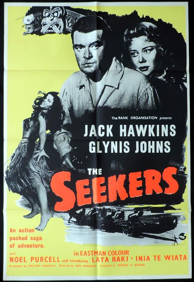 THE SEEKERS aka LAND OF FURY 1958 One sheet Movie Poster NEW ZEALAND CINEMA
