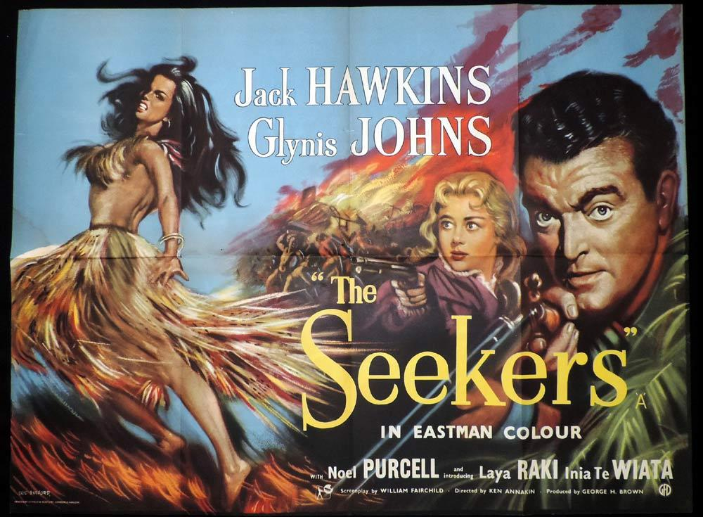 THE SEEKERS aka LAND OF FURY 1958 Movie Poster MARTINE CAROL British Quad