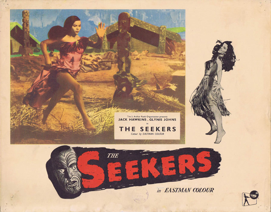 THE SEEKERS aka LAND OF FURY 1958 English Lobby Card 2 NEW ZEALAND CINEMA