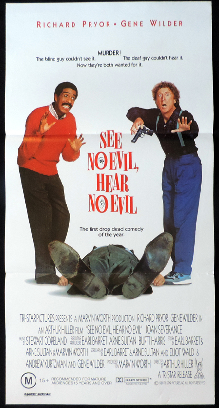 SEE NO EVIL HEAR NO EVIL ORIGINAL Daybill Movie poster Richard Pryor Gene Wilder