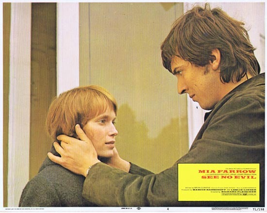 SEE NO EVIL 1971 Lobby Card 4 Mia Farrow