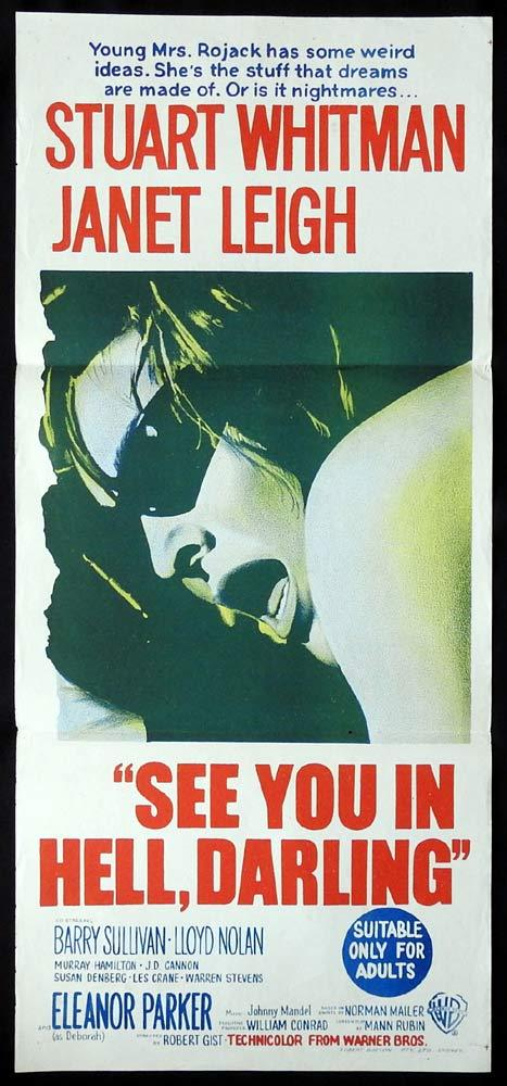 SEE YOU IN HELL DARLING Original Daybill Movie poster Stuart WhitmanJanet Leigh