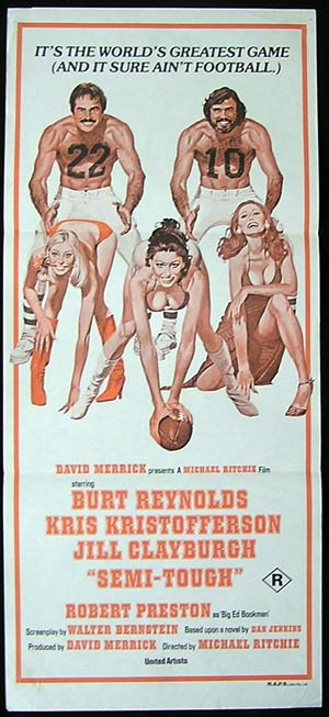 SEMI TOUGH '77-Burt Reynolds-KRIS KRISTOFFERSON poster