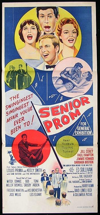 SENIOR PROM 1958 Paul Hampton RARE original poster