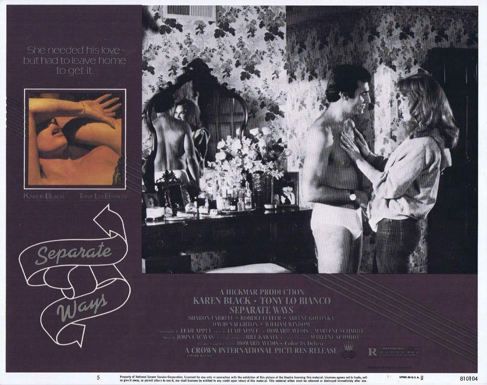 SEPARATE WAYS Lobby Card 5 Karen Black Tony Lo Bianco Arlene Golonka