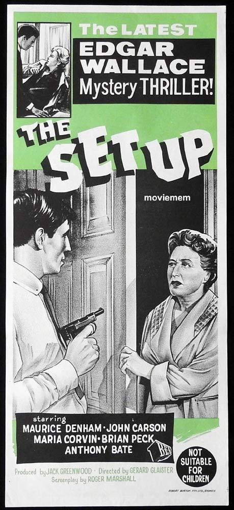 THE SET UP Original Daybill Movie Poster Edgar Wallace Maurice Denham