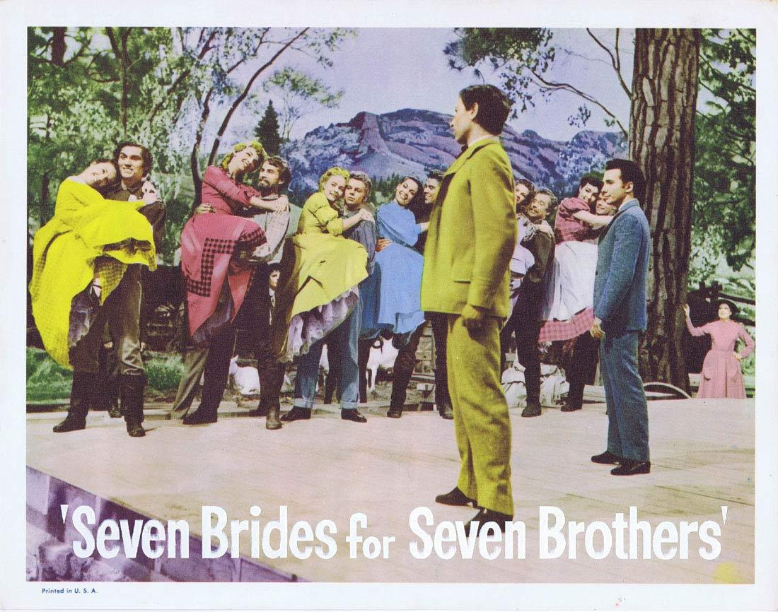 SEVEN BRIDES FOR SEVEN BROTHERS Lobby Card 6 Howard Keel Jane Powell Jeff Richards 1960sr