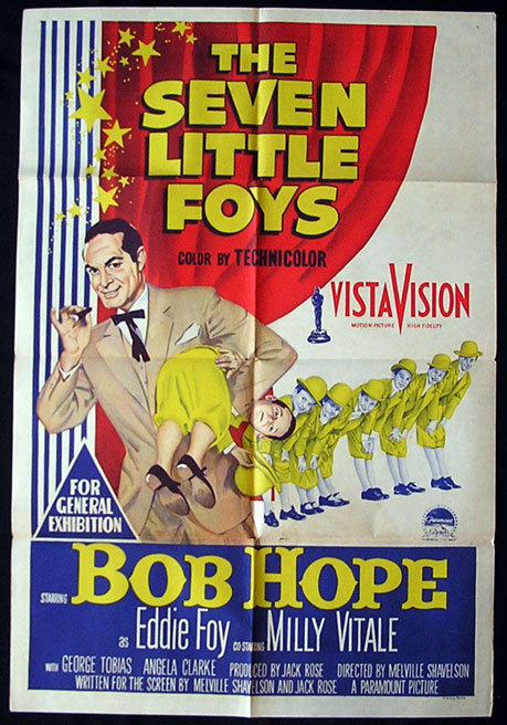 THE SEVEN LITTLE FOYS One Sheet Movie poster Bob Hope as Eddie Foy
