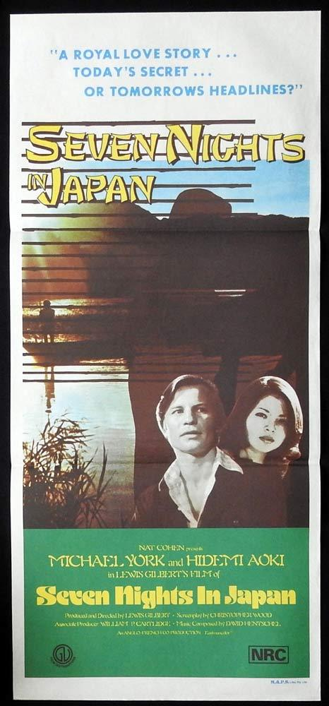 SEVEN NIGHTS IN JAPAN Original Daybill Movie Poster Michael York Hidemi Aoki